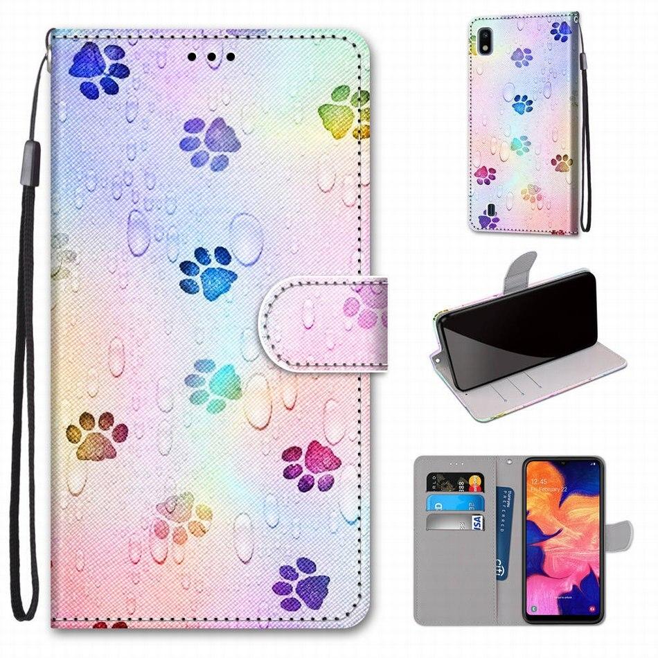 Kids Boy Girl Cute Flip Phone Wallet For Case LG K20 K30 2019 K40S K50S Q70 X2 2019 Wolf Lion Dog Rose Leather Stand Cover D08F