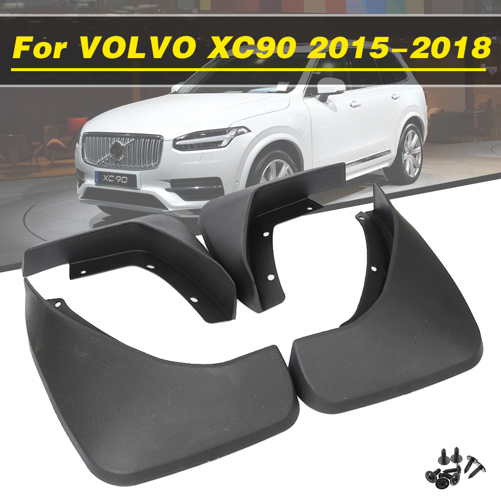 4Pcs Car Mudflaps Front Rear Mud Flaps Mudguards Splash Guards Fender Flares For <font><b>VOLVO</b></font> <font><b>XC90</b></font> 2015 <font><b>2016</b></font> 2017 2018 Car <font><b>Accessories</b></font> image