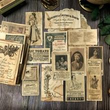 41 stücke Vintage TN handmade kaffee gefärbt papier JunkJournalDIY scrapbooking bill spitze pad zeitung primer collage material paket