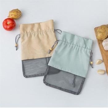 Multi-purpose Kitchen Onion Potato Tomato Hangable Fruit and Vegetable Storage Net Bag Basket Hollow Bag Organize Mesh Tote Bag 1