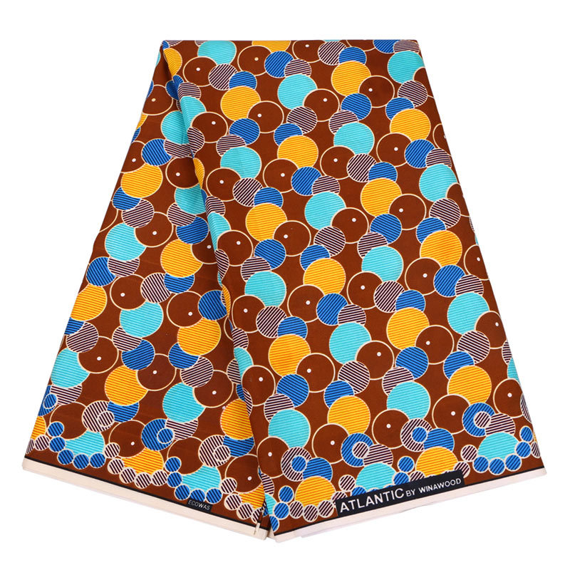 New Arrivals Fashion Design African Veritable Dutch Wax Colourful Round Printed Fabric Real Wax Printed Fabric 6Yards