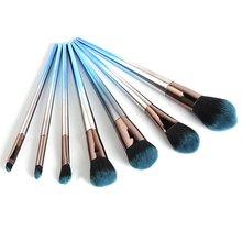 Rhombus Makeup Brushes Comfortable Cosmetic Brush Professional Brushes 7pcs Set Portable Beauty Makeup Accessories ubeyoo professional 7pcs makeup brushe set brushes in black leather like ties case makeup brushes