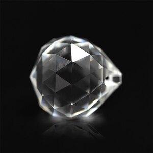 Image 2 - 10 Pcs 30 Mm/40 Mm Trasparente di Cristallo Sfaccettato Sfera di Vetro Fermacarte Fengshui Artigianato in Pietra Naturale per La Casa Albergo decorazione Fai da Te