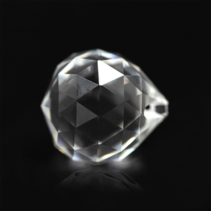 Image 2 - 10pcs 30mm/40mm Clear Crystal Faceted Ball Glass Paperweight Fengshui Crafts Natural Stone for Home Hotel DIY Decoration
