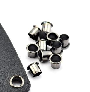 7x6mm Kydex Painted Black Bronze Leather DIY Garment Kydex Eyelets-100 Pieces