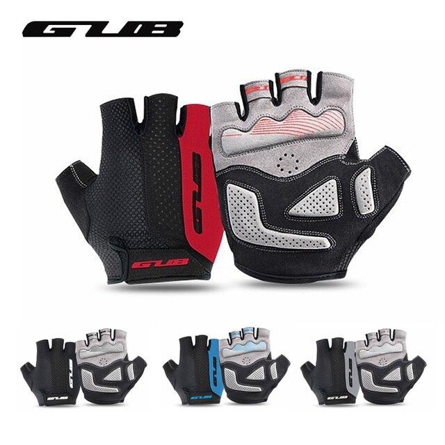 GUB 2099 ครึ่งนิ้วขี่จักรยานถุงมือกีฬากลางแจ้ง MTB กันกระแทก Non SLIP Breathable ผู้ชายผู้หญิงถุงมือสำหรับจักรยานจักรยานถุงมือ