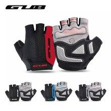 Велосипедные перчатки GUB 2099 с открытыми пальцами, уличные спортивные противоударные Нескользящие дышащие перчатки для горного велосипеда для мужчин и женщин, велосипедные перчатки