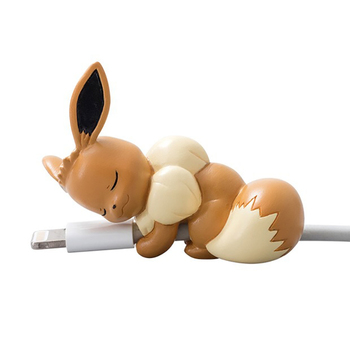TAKARA TOMY Pokemon Dolls Pikachu Cable Protector Animal for Iphone Clownfish Mobile Phone Connector Accessory Organizer clownfish blues