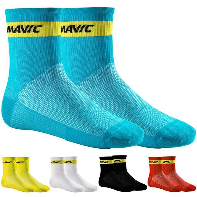 マヴィックブランドサイクリング靴下圧縮スポーツソックス道路の自転車の靴下アウトドアスポーツmtbレースサイクリング自転車靴下