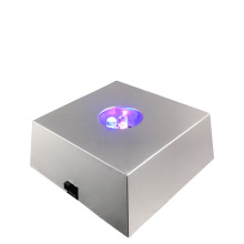 Portable High Quality 3 LED RGB 3IN1 Colorful Light Square Luminous Bases Wine Crystal Display Light For Home Bar Bedroom Party