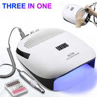 3-IN-1Multifunction Nail Dust Vacuum Cleaner & Electric Nail Drill &UV LED Nail Lamp Manicure Machine For Nail Art Salon Tool