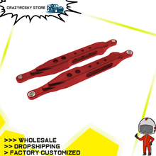 2pcs Machined Alloy Rear Shock Lower Support Rod For Rc Hobby Model Car 1-10 Vrx