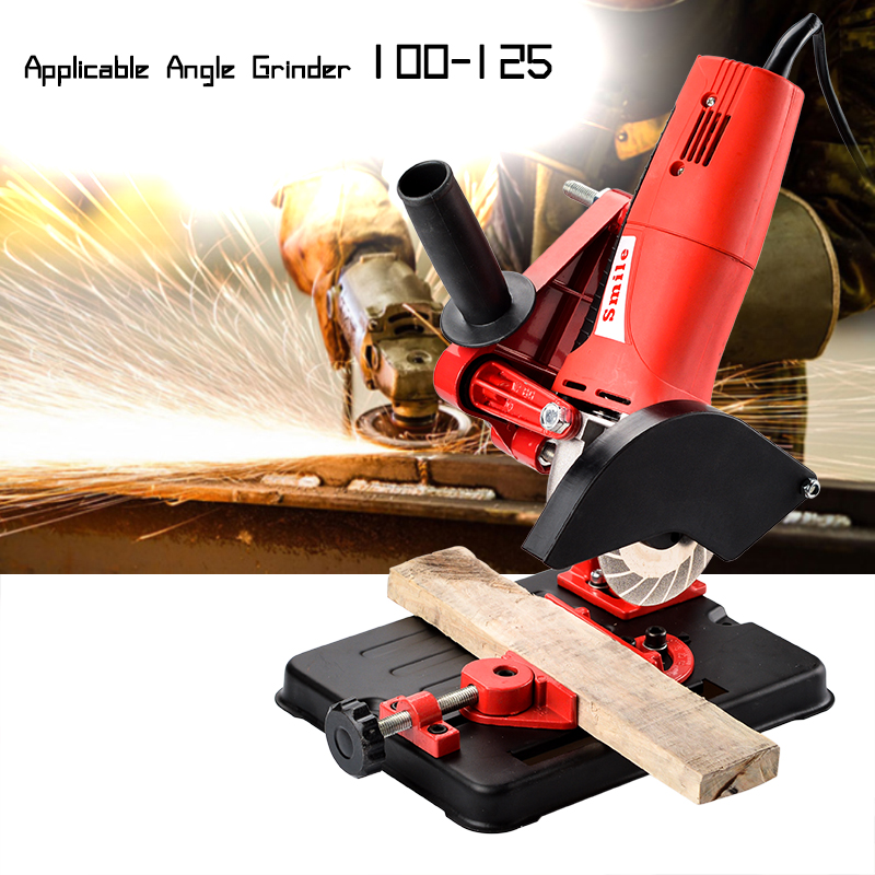 Angle Grinder Stand Angle Grinder Bracket Holder Support For 100-125 Cutter Angle Grinder Cast Iron Base Power Tool Accessory