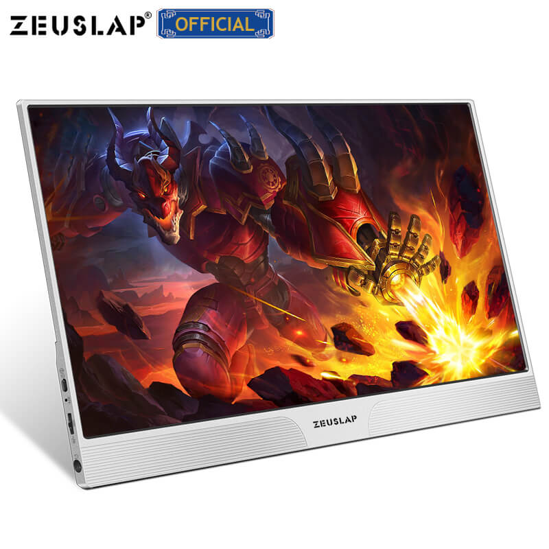 ZEUSLAP dünne tragbare lcd hd monitor 15,6 usb typ c HDMI-Compatible für laptop, telefon, xbox, schalter und ps4 tragbare lcd 1080p gaming monitor