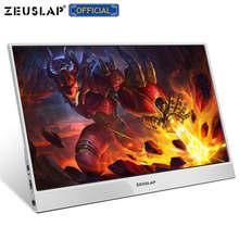 ZEUSLAP cienki monitor 15.6 rodzaj usb c HDMI-kompatybilny z laptopem, telefonem, konsolą xbox, przełącznikiem i ps4 przenośny wyświetlacz lcd 1080p monitor gamingowy