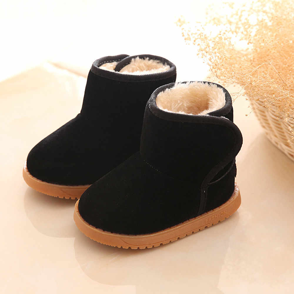 Winter Baby Child Style Cotton Boot Warm Snow Boots Soft Slip-on Rubber Boots For Children Anti-slip Hot Selling Soft 2019