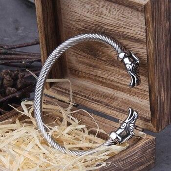 Мужские браслеты-манжета из нержавеющей стали