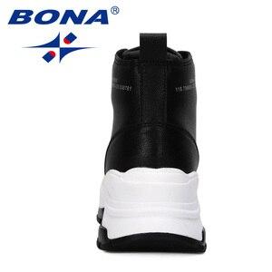 Image 3 - BONA 2019 New Designers Microfiber Snow Boots Women Short Plush Boots Ladies Ankle Boots Warm Winter Footwear Feminimo Trendy