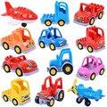 Cartoon Auto Blöcke Lkw Traktor Flugzeug Modell Zubehör Große Größe Bricks Kompatibel Großen Marke Kinder Pädagogisches Spielzeug Geschenk