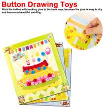цена на DIY Button Stickers Kids Handmade Painting Craft Kit Learning Educational Drawing Board Toys For Children Gift