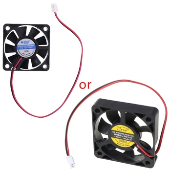 DC 12V 0.12A 2-Pin 50x50x10mm PC Computer CPU System Brushless Cooling Fan 5010 image
