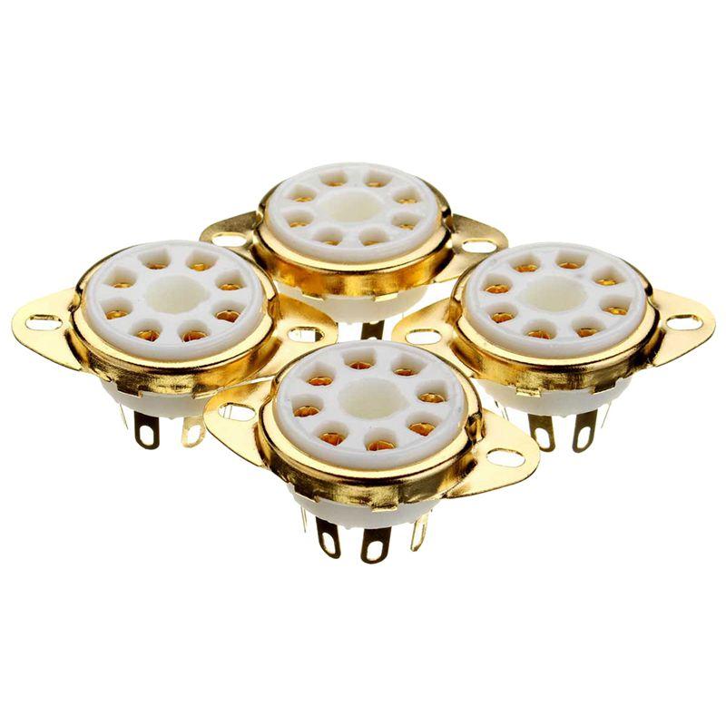 4PC 8 Pin Ceramic Socket Tube Top Vacuum Octal Value For KT88 EL34 6V6 6650 274B