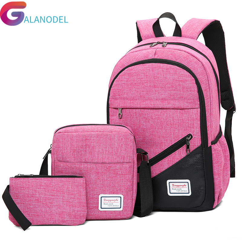 Quality High 2019 Nylon School Bag For Teenagers Boys Girls Men Laptop Backpacks Waterproof Orthopedic School Backpack Mochila