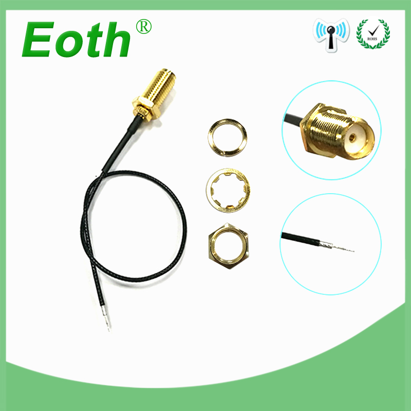 Extension Cable SMA Female Plug To Open End With Sn Tip For Pcb Soldering Pigtail Cable