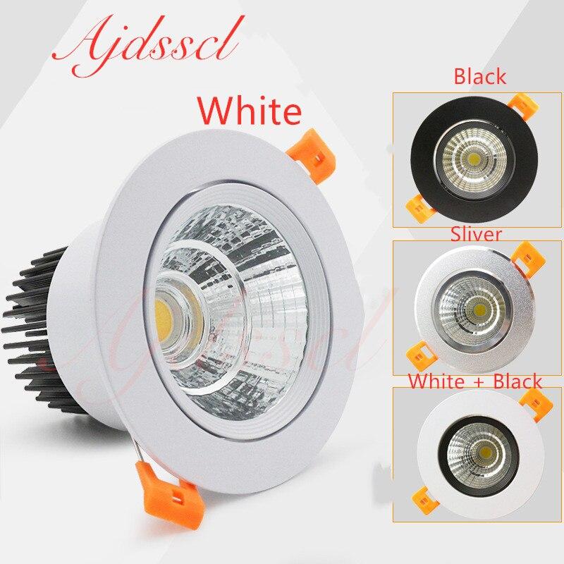 Kısılabilir yuvarlak Led Spot tavan Spot aydınlatma 3W 5W 7W 12W 15W 20W 30W Led ampul yatak odası mutfak kapalı tavan gömme ışık