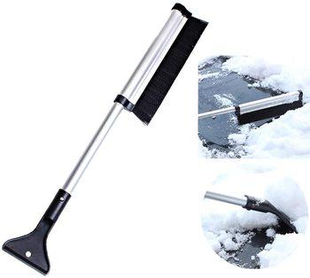 Samochód ze stopu aluminium teleskopowa szczotka do śniegu łopata do lodu usuwanie śniegu odladzanie wielofunkcyjna łopata samochód zima łopata do śniegu dostaw tanie i dobre opinie CN (pochodzenie)