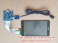 Pantalla IPS HDMI de 7 pulgadas, LCD MIPI 1200x1920 con placa de controlador, USB táctil, compatible con Win7, 8, 10, Raspberry Pi 3, LT070ME05000