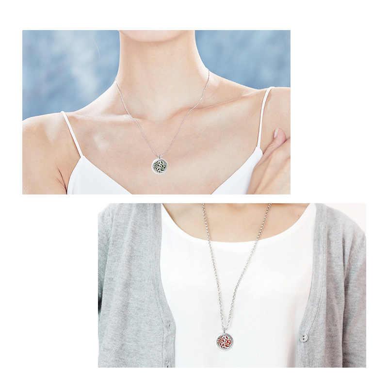Парфюмерный медальон для хранения эфирного масла диффузор ожерелье женские подвески серебряный цвет ювелирные изделия из нержавеющей стали