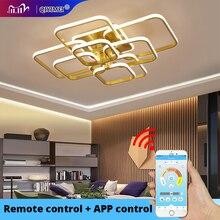 Lámpara de techo con luz LED acrílica y control remoto para el hogar, candelabro de estilo moderno para sala de estar y dormitorio, envío gratis