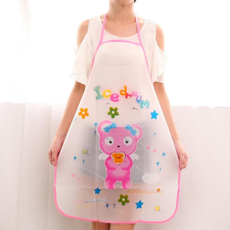 1Pcs Cartoon Apron Panda Rabbit Printing Waterproof Anti-oil Aprons Men Women Cooking Waist Bib Home Kitchen Accessories NEWEST