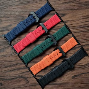 3D Silicone Strap for Apple Watch Band 42mm 38mm 44mm 40mm Strap Rubber Iwatch Bands for iWatch Bracelet Series 6/5/4/3/2/1