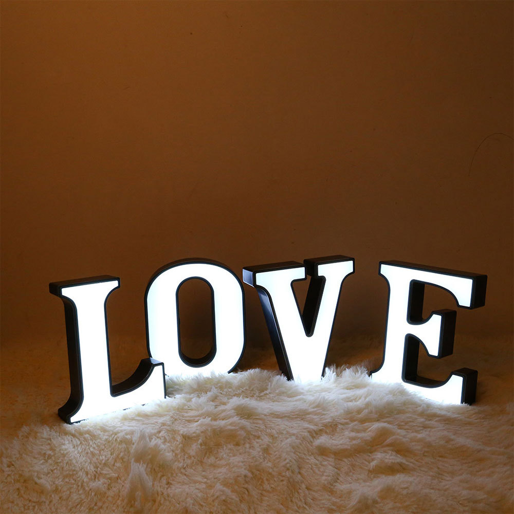 Plastic Led Lights Diy Letter Symbol Sign Desk Letters Ornament Home Decoration For Wedding Decoration Valentine S Day Gift Buy At The Price Of 4 51 In Aliexpress Com Imall Com