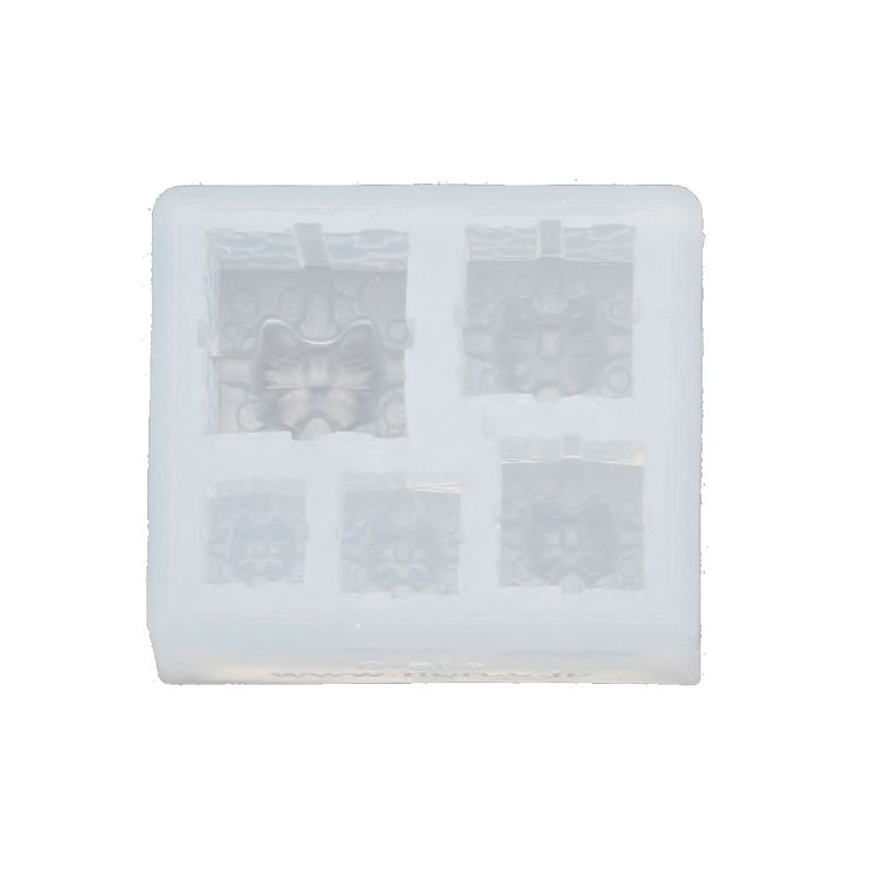 Mini Size Christmas Gift Box Pendant Silicone Resin Molds Jewelry Making Tools LX9D