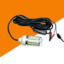12V 108 LED Fish atraktor światło podwodne noc Fishing Finder lampa Super Bright lampa wędkarska (białe światło) tanie tanio CN (pochodzenie) Klips