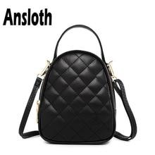 Ansloth Classic Diamond Lattice Mini Bag Simple Shoulder Bags Female PU Leather Women Fashion Handbag Crossbody HPS367