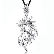Fashion Trend Flame Dragon Necklace Punk Glossy Pendant Domineering Titanium Steel Personality Male Jewelry Hot Sale Best Gift(China)