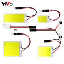 2pcs Car C10W Festoon LED COB Signal Bulbs 31mm 36mm 39mm 41/42mm C5W 168 Interior Reading Lights T10 White Dome Door Trunk Lamp
