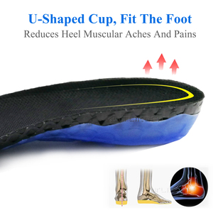 Image 5 - EVA Spring silicone orthopedic shoes sole Insoles For Super Shock Absorbant Elastic Sports Insole Foot Pain Relieve Shoe Insole