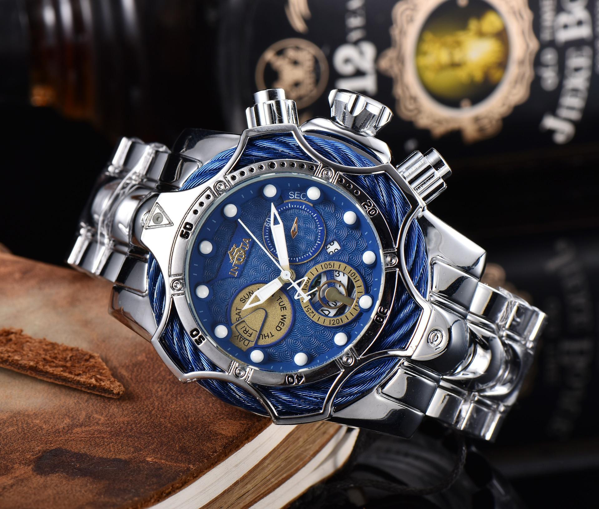 2021 luxury men's watch sports quartz business watch waterproof casual large dial watch men's gift