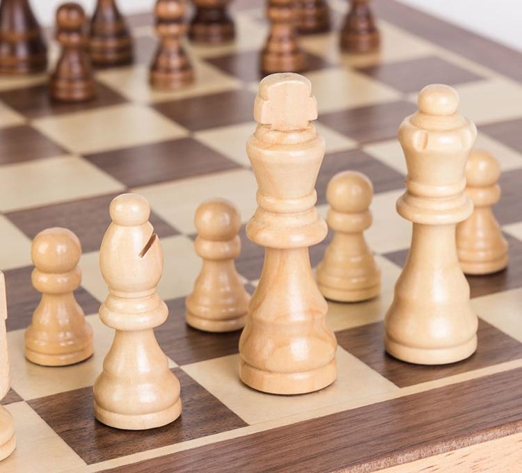 dobrável xadrez com peças de xadrez magnético chessman jogo de tabuleiro
