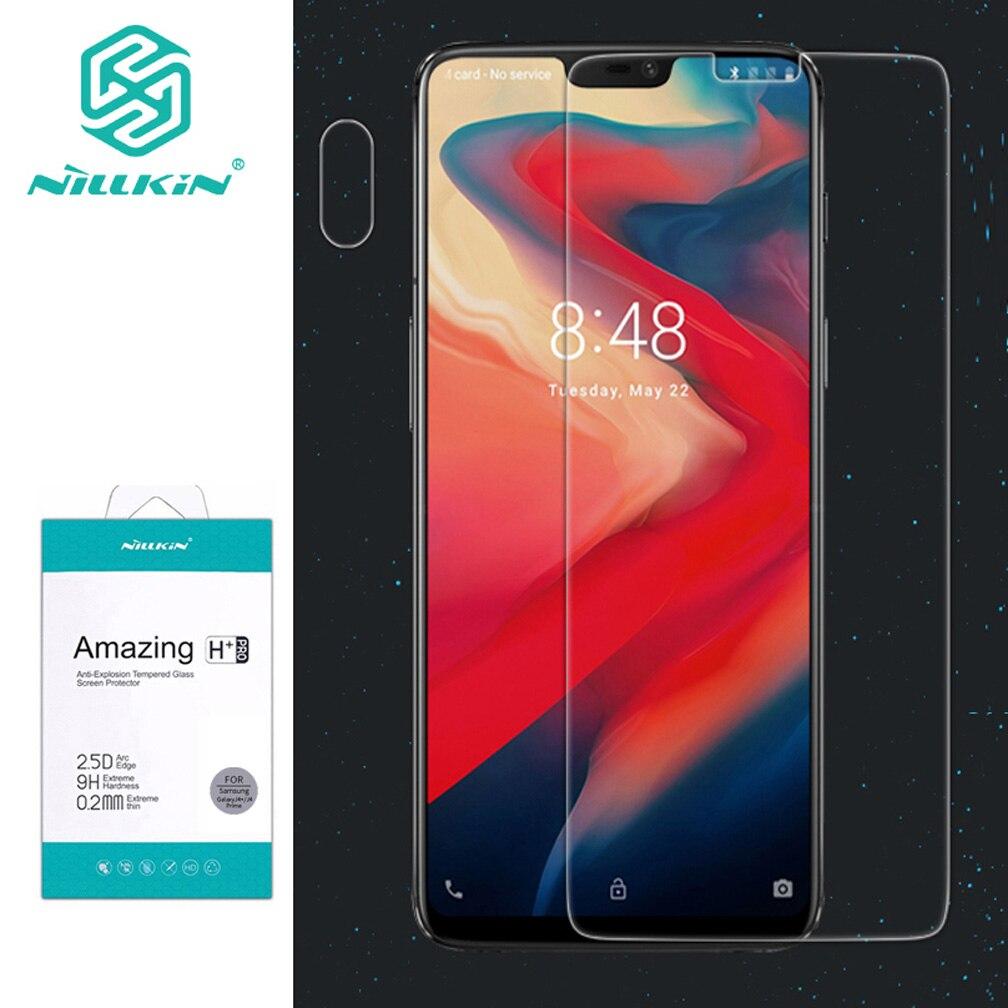2.5d para oneplus 6 protetor de tela nillkin incrível h & h + pro vidro temperado para um mais 6 telefone protetor de tela