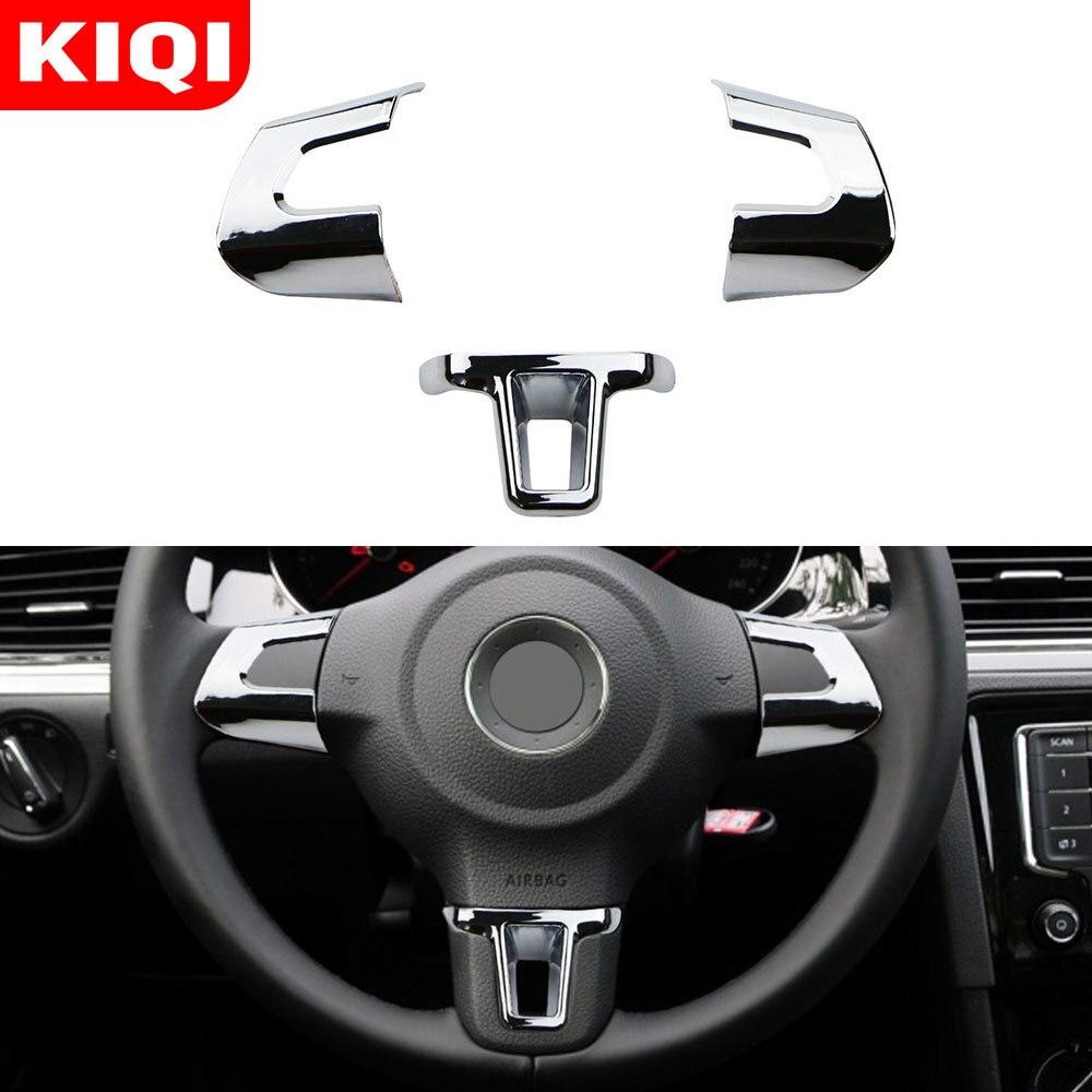 Хром ABS для Volkswagen VW Golf 6 MK6 Polo Jetta MK5 2011 2012 2013 Polo Bora, накладка на руль, хромированная отделка, блестки, наклейка