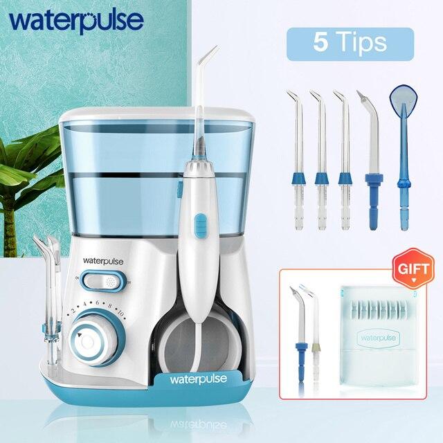 Waterpulse V300 800 مللي عن طريق الفم الري 7 قطعة نصائح جهاز تخليل الأسنان بالماء المياه الخيط نظافة الفم قطن الأسنان الخيط المياه