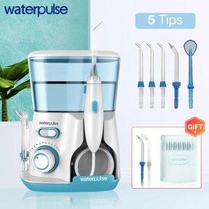 Image 1 - Waterpulse V300 800Ml Monddouche 7Pcs Tips Dental Water Flosser Water Floss Mondhygiëne Tanden Bleken Water Flossen