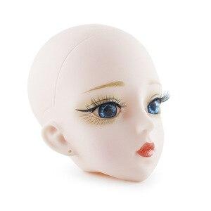 Image 2 - חדש 60cm Bjd בובת צעצועי 3D עיני DIY קירח ראש עירום עירום 21 מפרקים גוף נשי בובת גלוי ראש בובות צעצוע עבור בנות