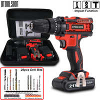 21V Cordless Screwdriver Electric Screwdriver 45N.m 1.5Ah Professional Hand Drill Multi-function Mini Drill For House Renovation